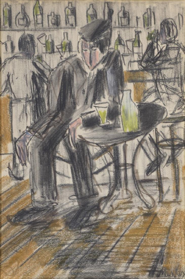 Zygmunt MENKES (1896 - 1986)   Homme dans un Café