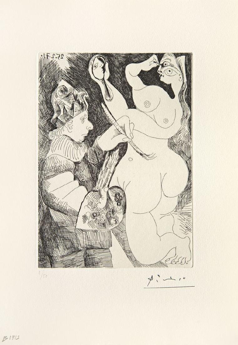Pablo PICASSO (1881-1973)  Peintre bouffon peignant