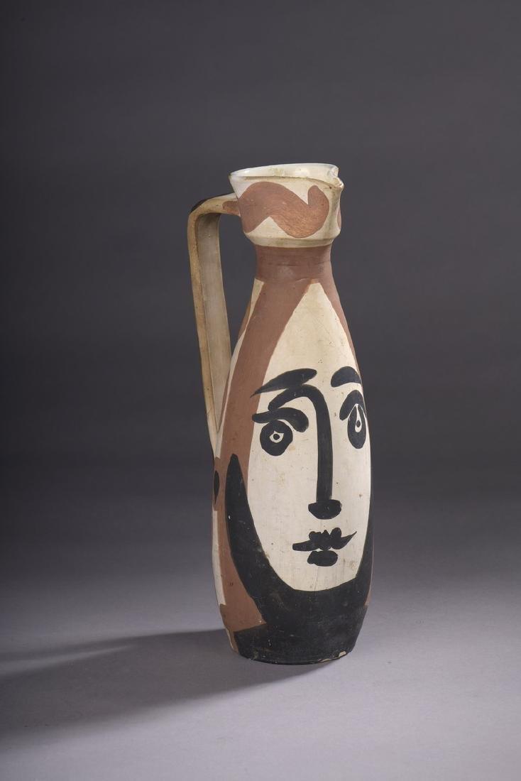 Pablo PICASSO (1881-1973) & MADOURA  Visage, modèle