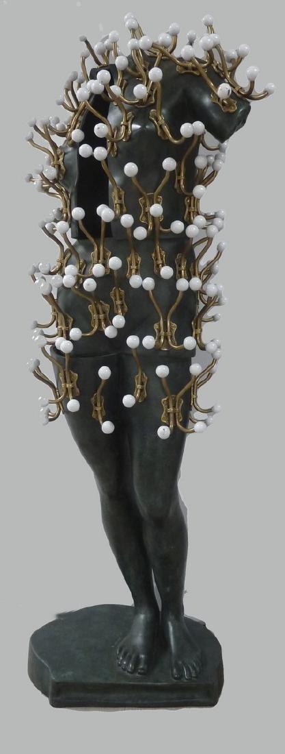 ARMAN (1928-2005)  Bien vêtue II, 2004  Bronze à