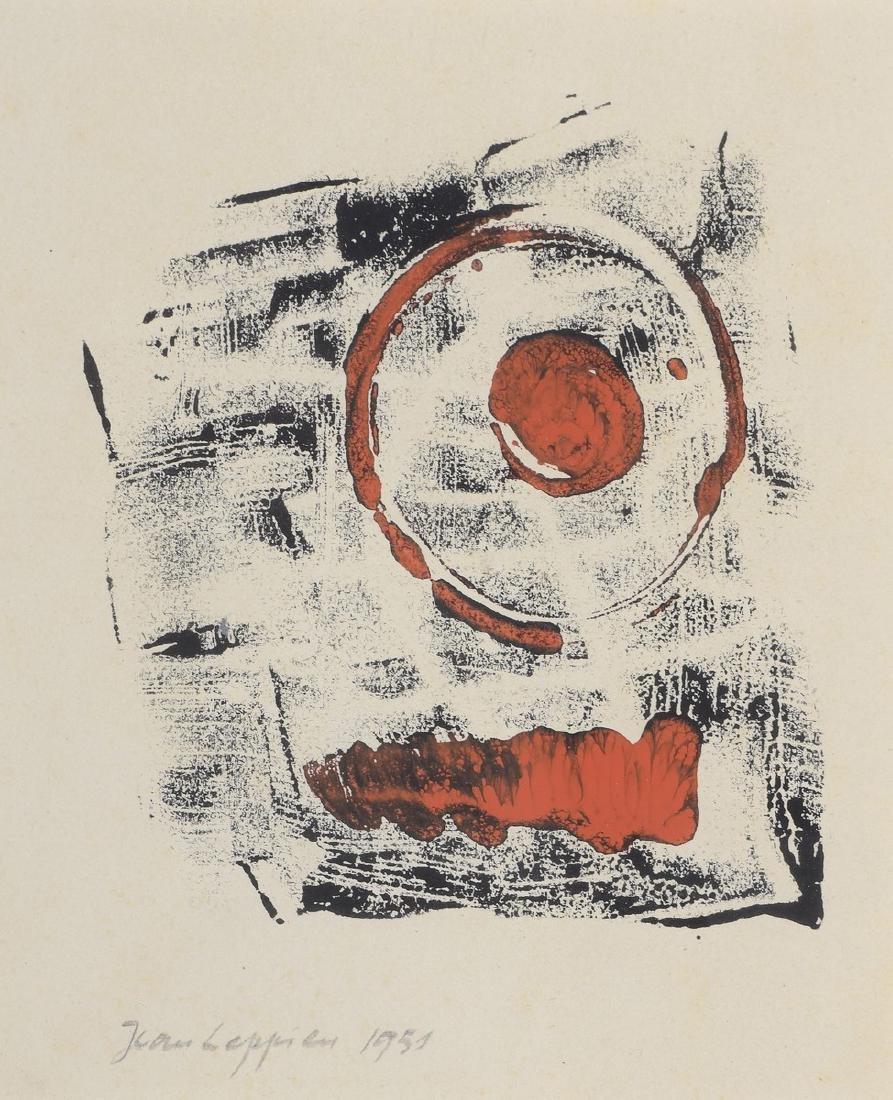 Jean LEPPIEN (1910-1991)  Composition, 1951   Encre et