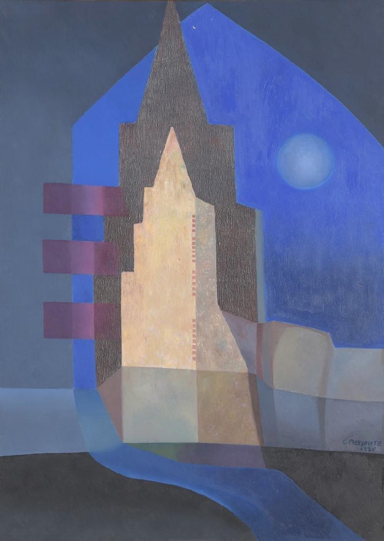 """Carmen PIEMONTE (Née en 1932)  """"La nueva Ciudad"""", 1996"""