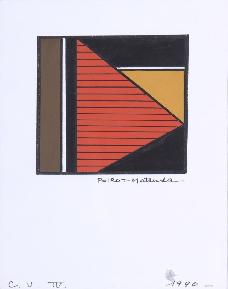 POIROT-MATSUDA (Né en 1940)  Composition géométrique