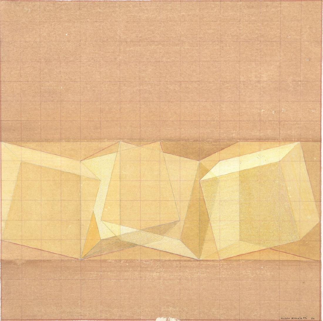 Guido ZANOLETTI (Né en 1930)  Composition abstraite