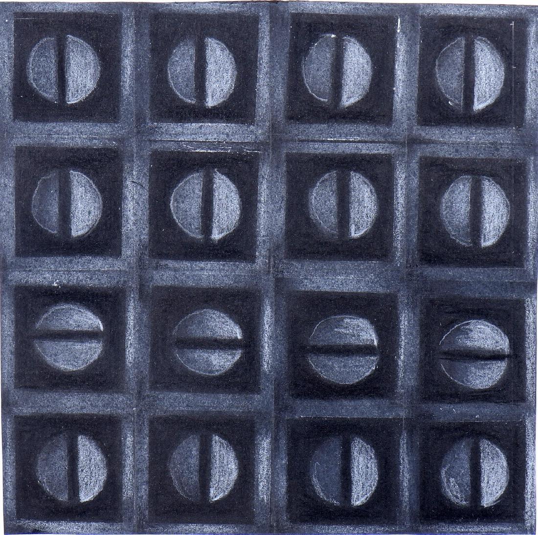 Lina STRANO (XXème siècle)  Composition abstraite