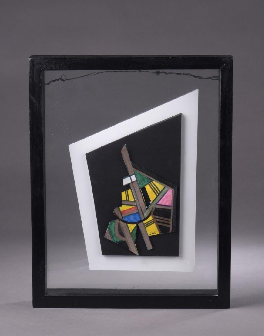 Pepe CACERES(né en 1941)  Composition  Acrylique sur