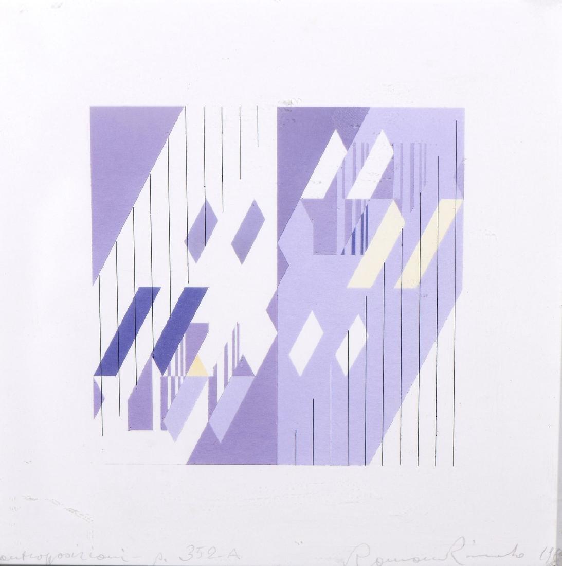 Romano RIZZATO (Né en 1936)  Sans titre  Acrylique sur