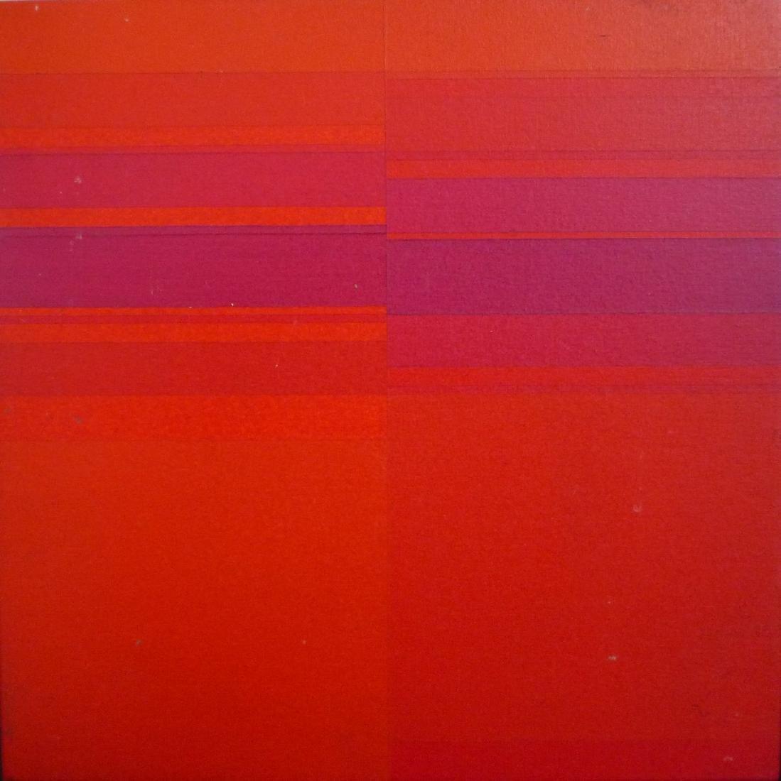 Pino DE LUCA (Né en 1939)  «Mono/croma,Il rosso