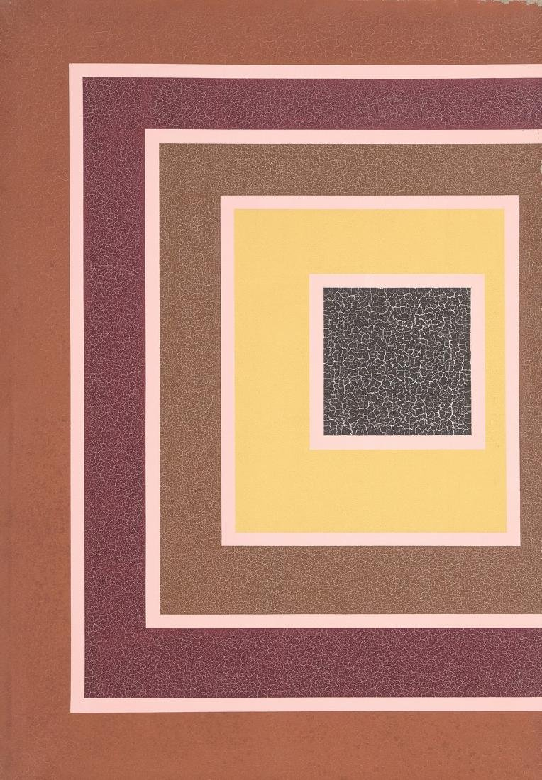 Michel MAGNE (1930-1984)  Composition   Acrylique sur