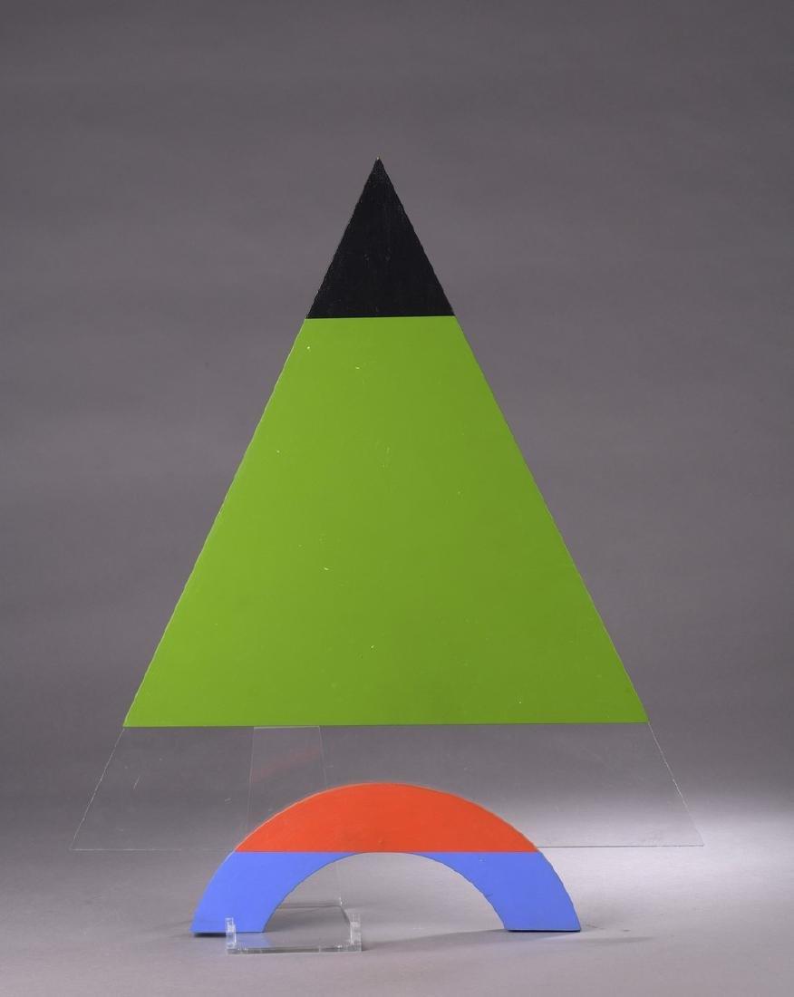 Henri MOUVANT (1926-2015)  Triangle,1997  Acrylique et