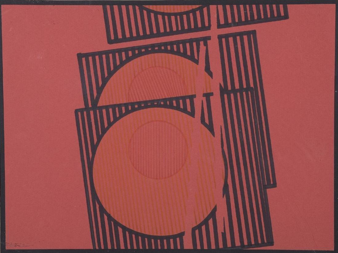 Pepe CACERES(né en 1941)  Composition géométrique