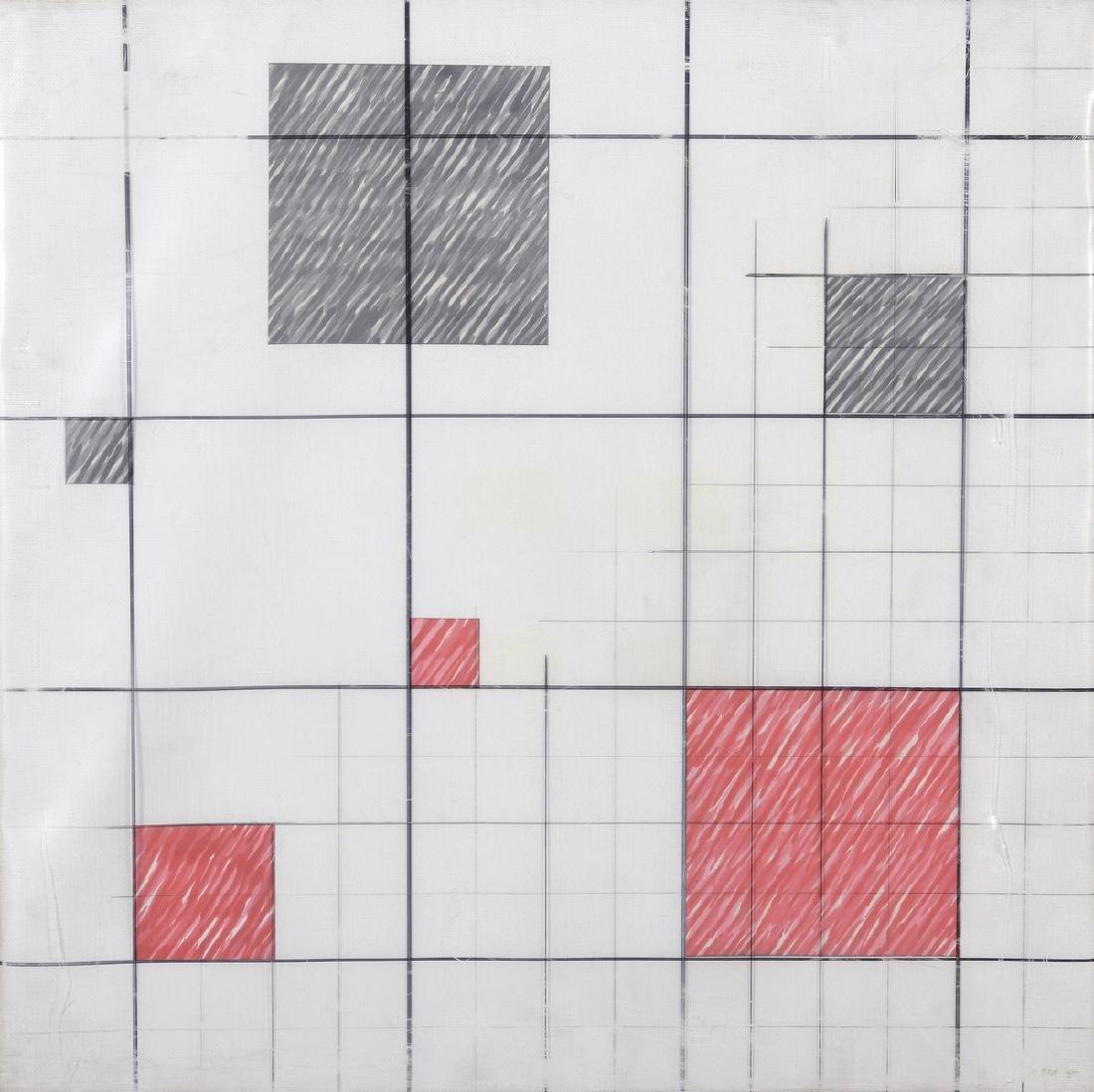 Mauro BINI (Né en 1932)  «Composizione 1980»