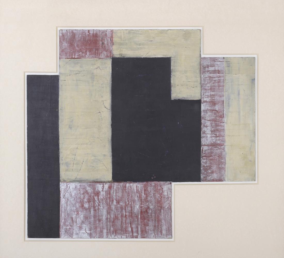 Pepe CACERES (Né en 1941)  Composition abstraite  Huile