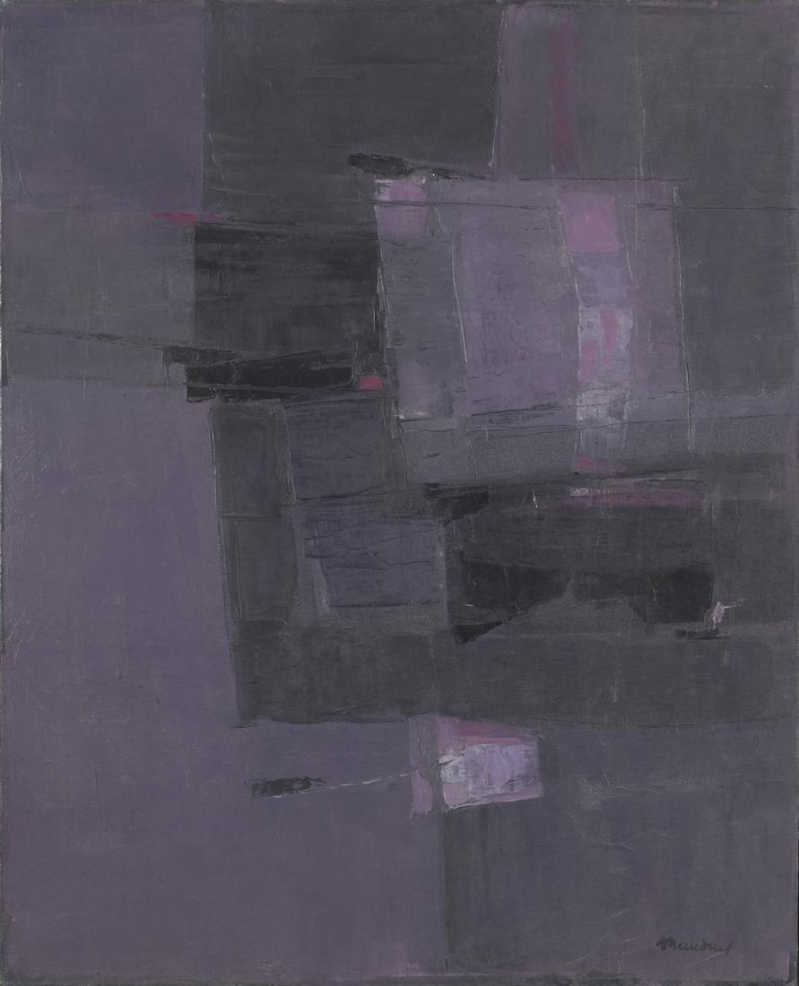 Henri MAUDUIT (Né en 1917)  Composition, 1979  Huile