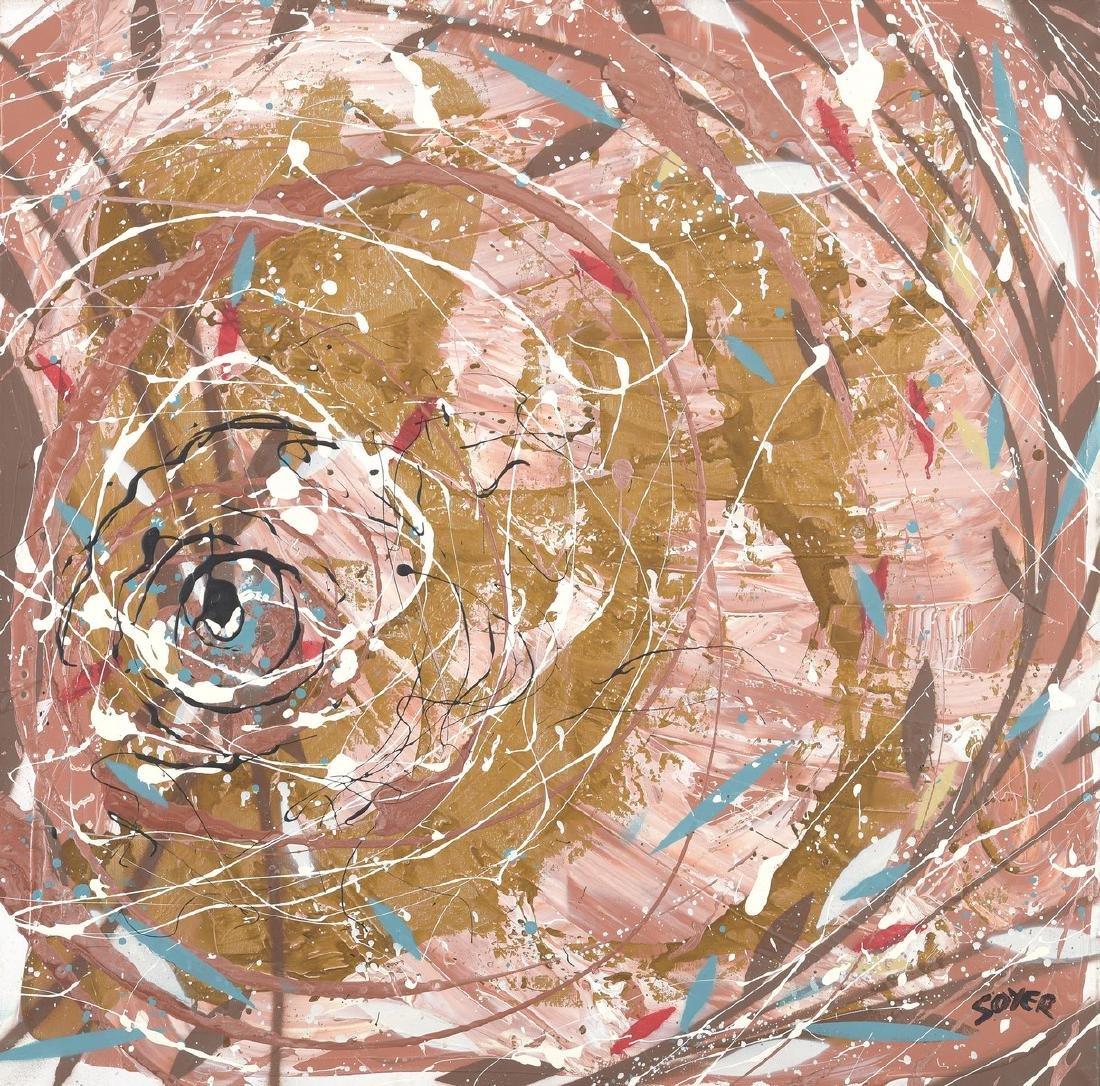 SOYER (Né en 1983)  L'oeil de Moscou  Acrylique sur