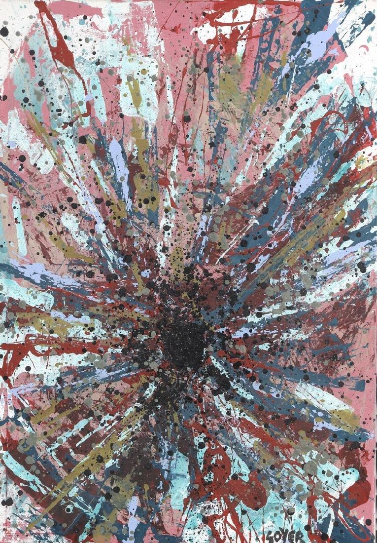 SOYER (Né en 1983)  Trou noir  Acrylique sur toile,