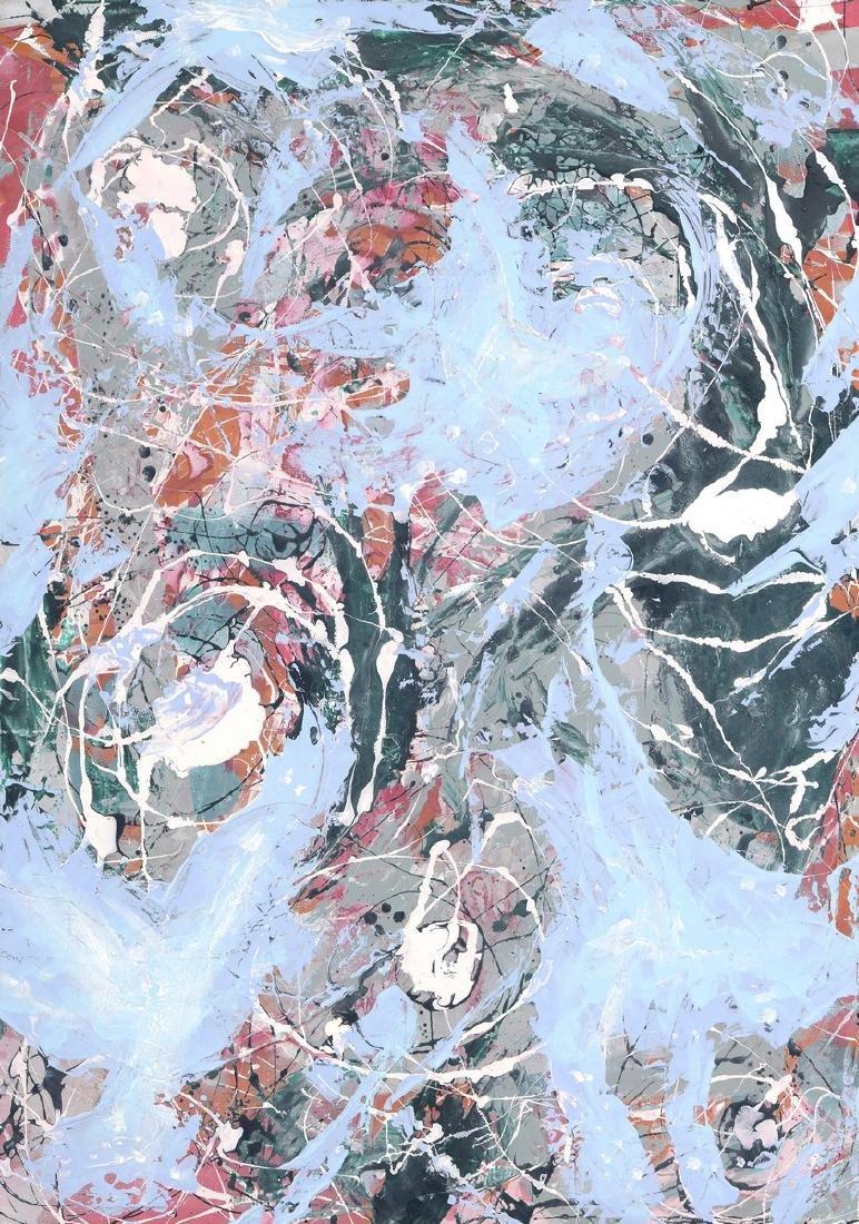 SOYER (Né en 1983)  Perdre les eaux  Acrylique sur