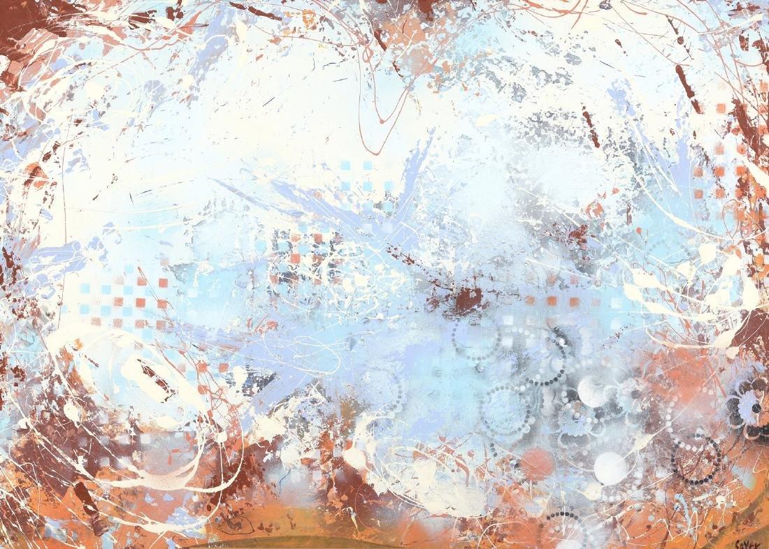 SOYER (Né en 1983)  Anticyclone  Acrylique sur toile,
