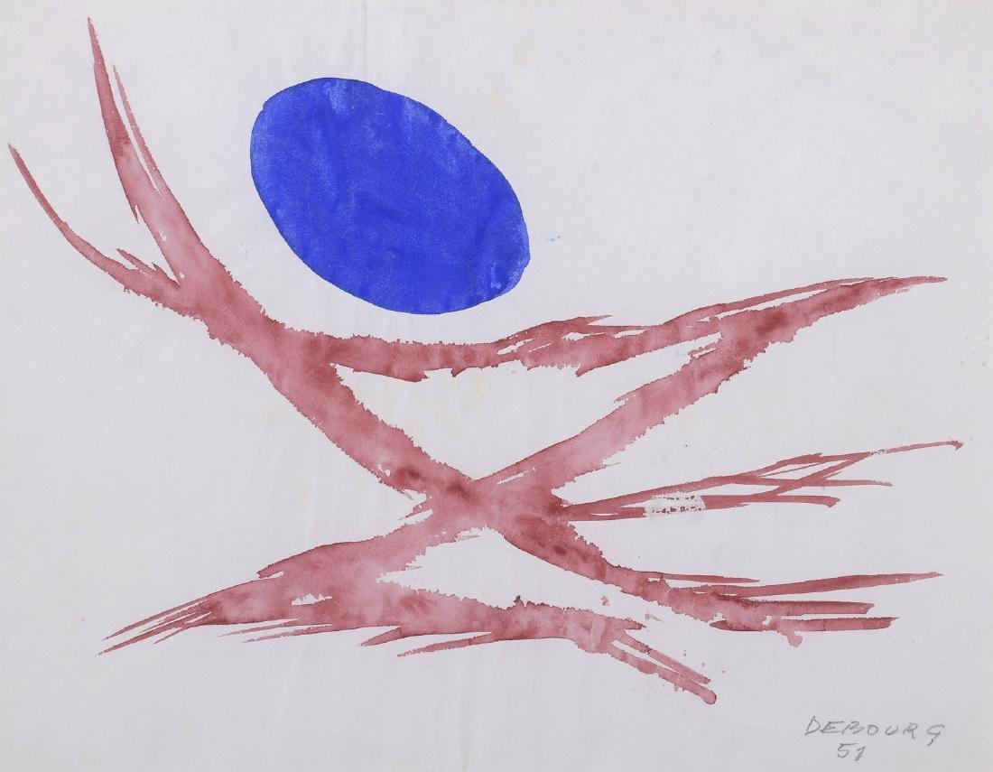 Narciso DEBOURG (Né en 1925)  Sans titre,1951