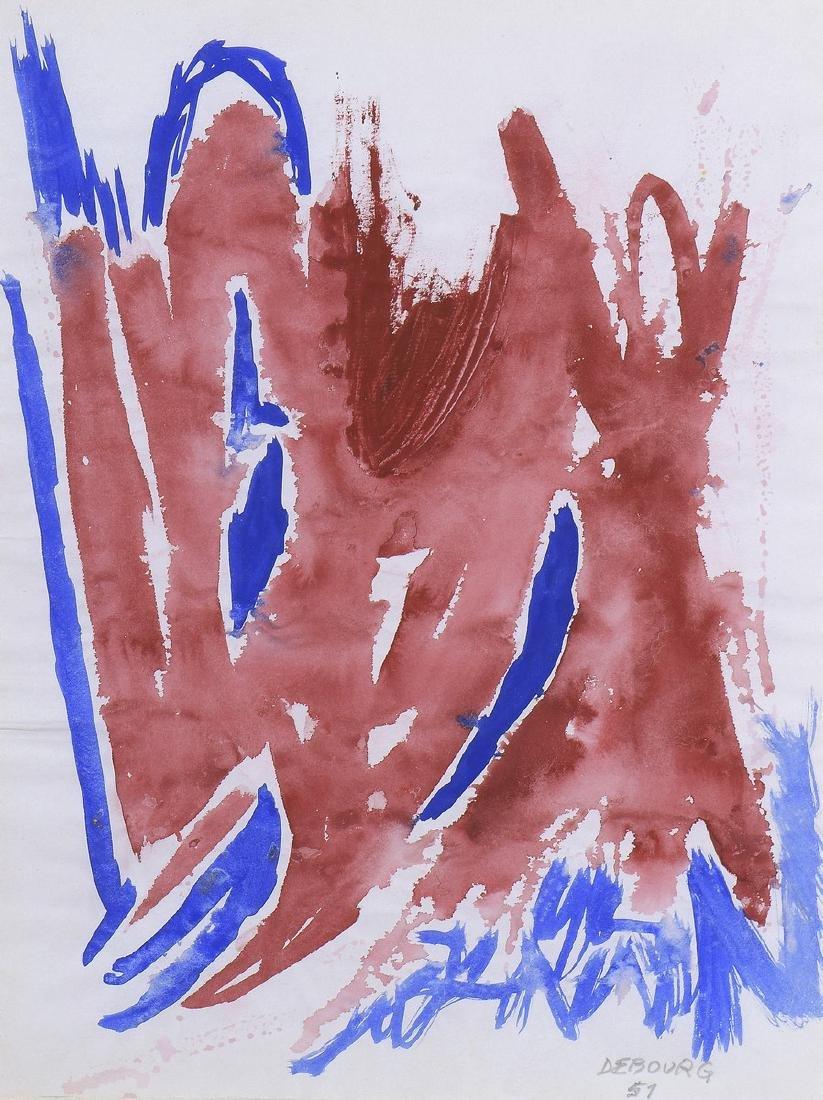 Narcisso DEBOURG (Né en 1925)  Composition, 1951