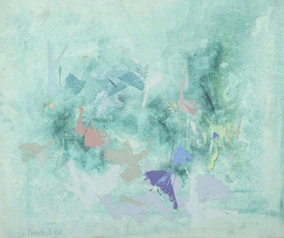 C. HERDECK (XXème siècle)  Composition abstraite,1962