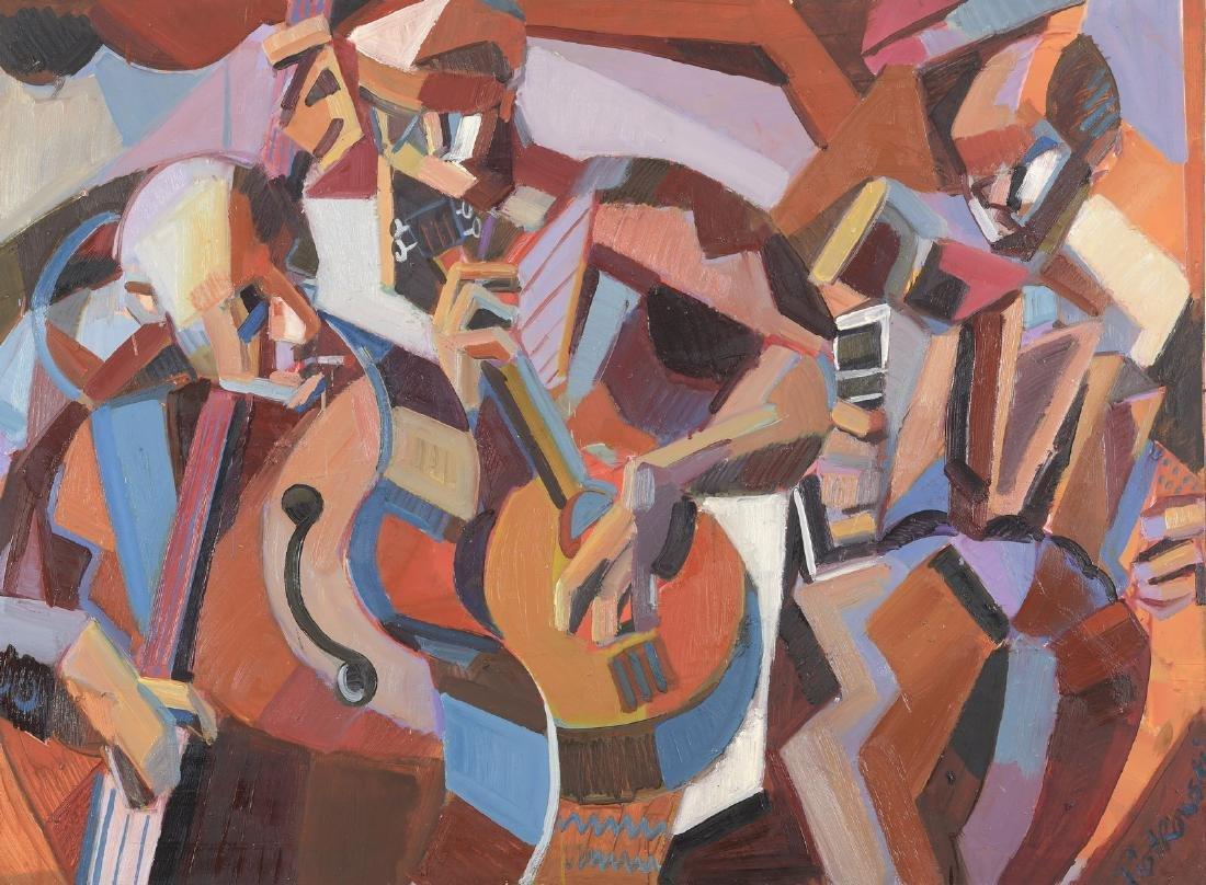 Marek PIOTROWSKI (XXème siècle)  Les musiciens, 1998