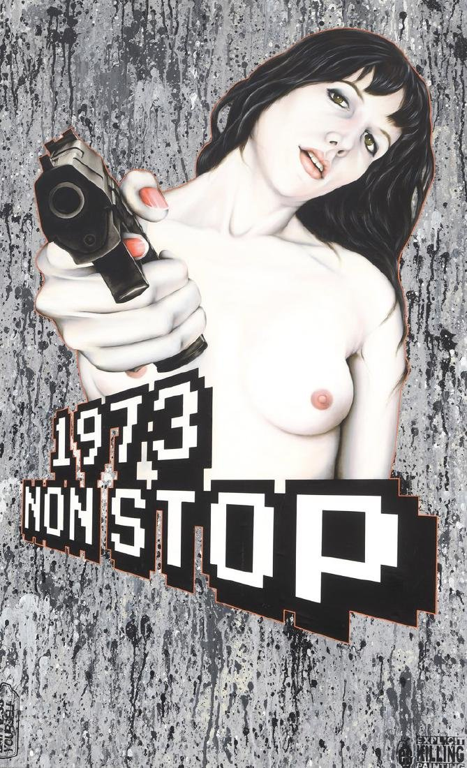 """Edouard SCARFOGLIO (Né en 1973)  """"1973, Non stop"""","""