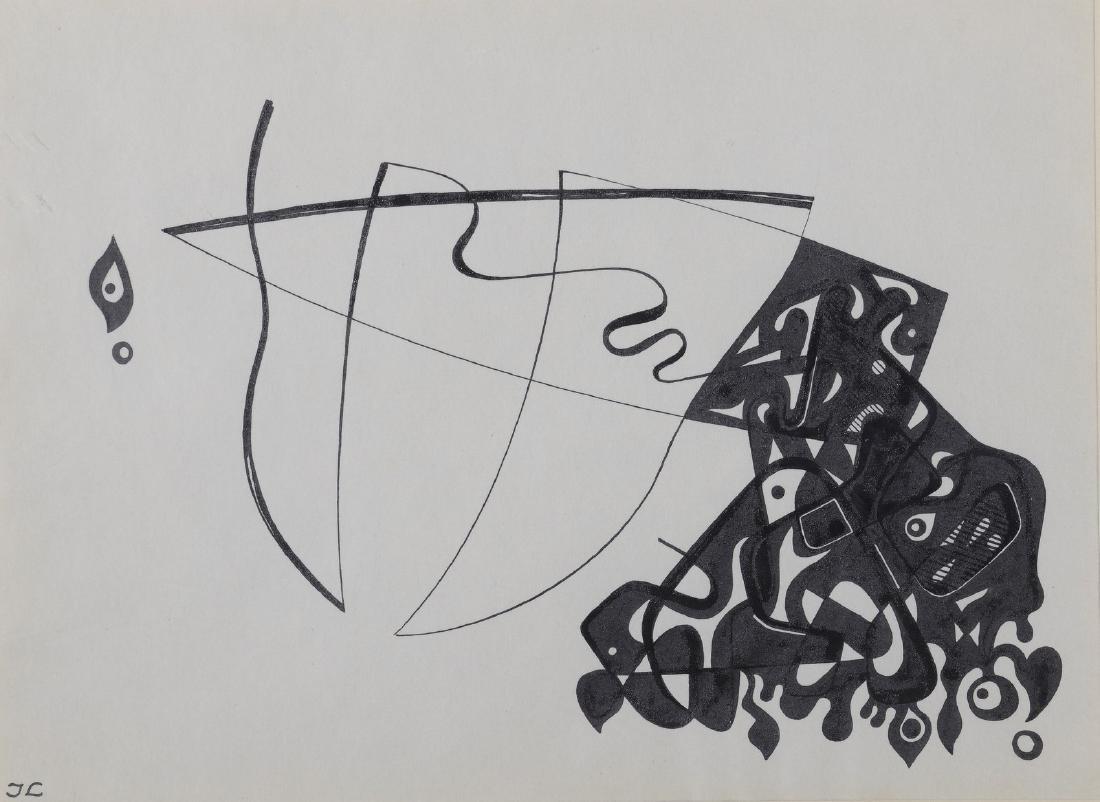 Jean LEPPIEN (1910-1991)  Sans titre  Dessin à l'encre