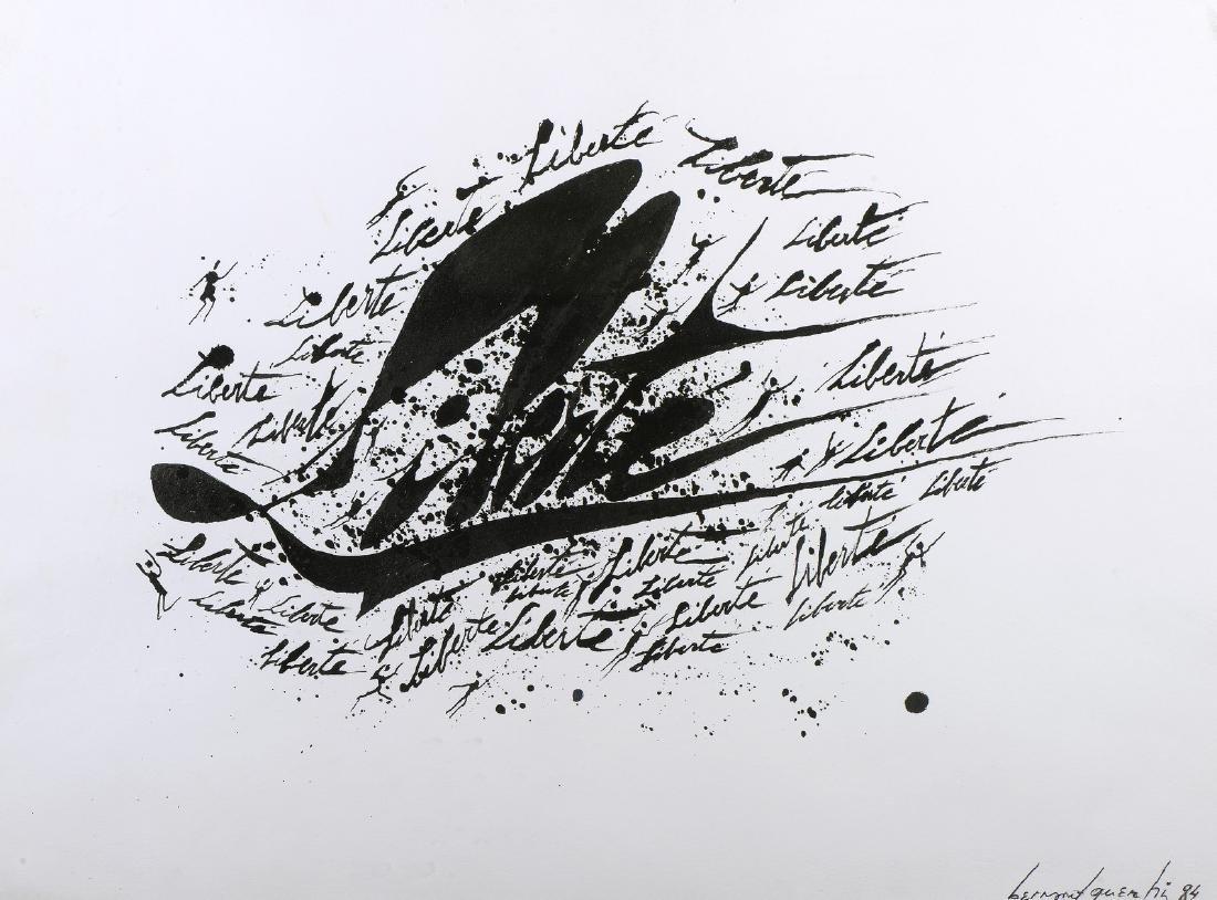 Bernard QUENTIN (Né en 1923)  « Liberté », 1991