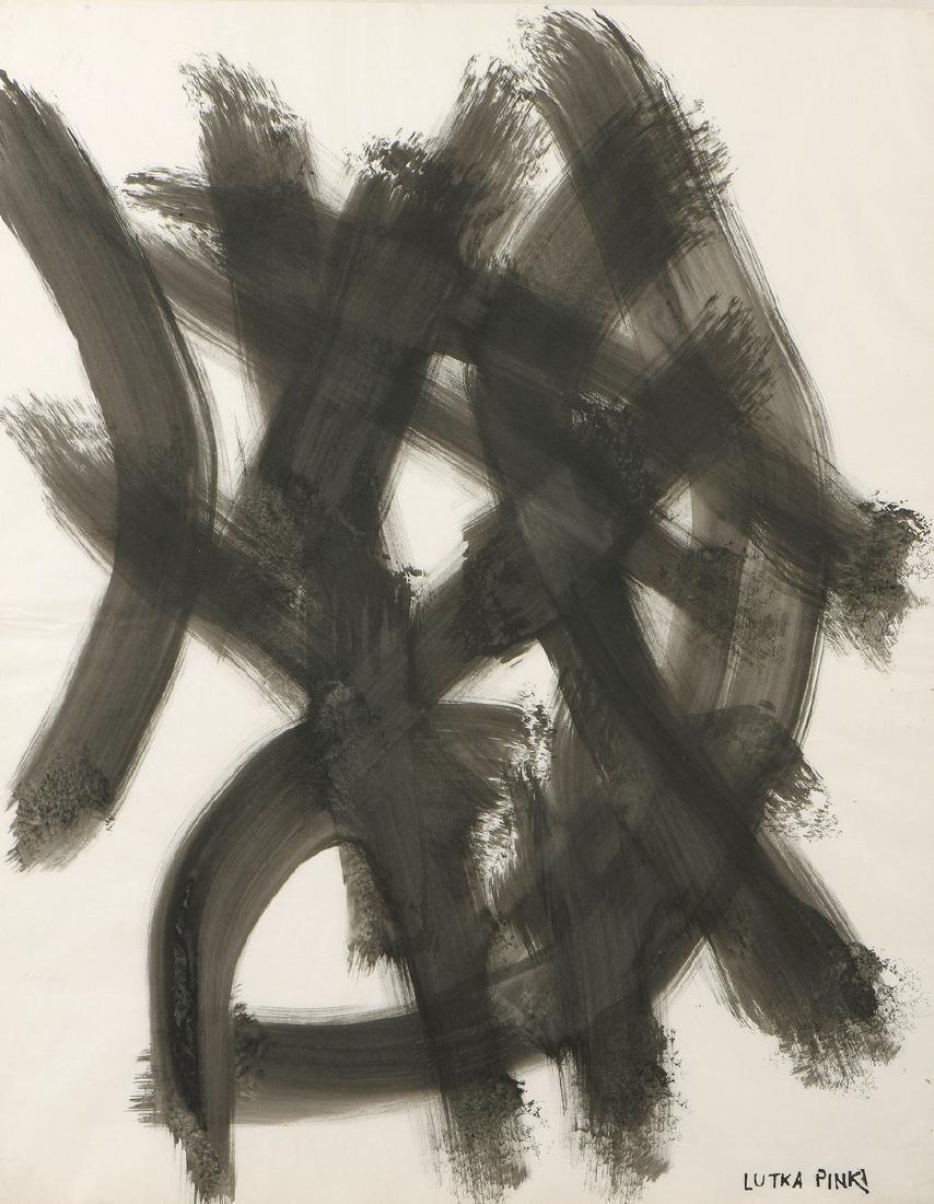 Lutka PINK (1906-1999)  Composition abstraite  Encre et