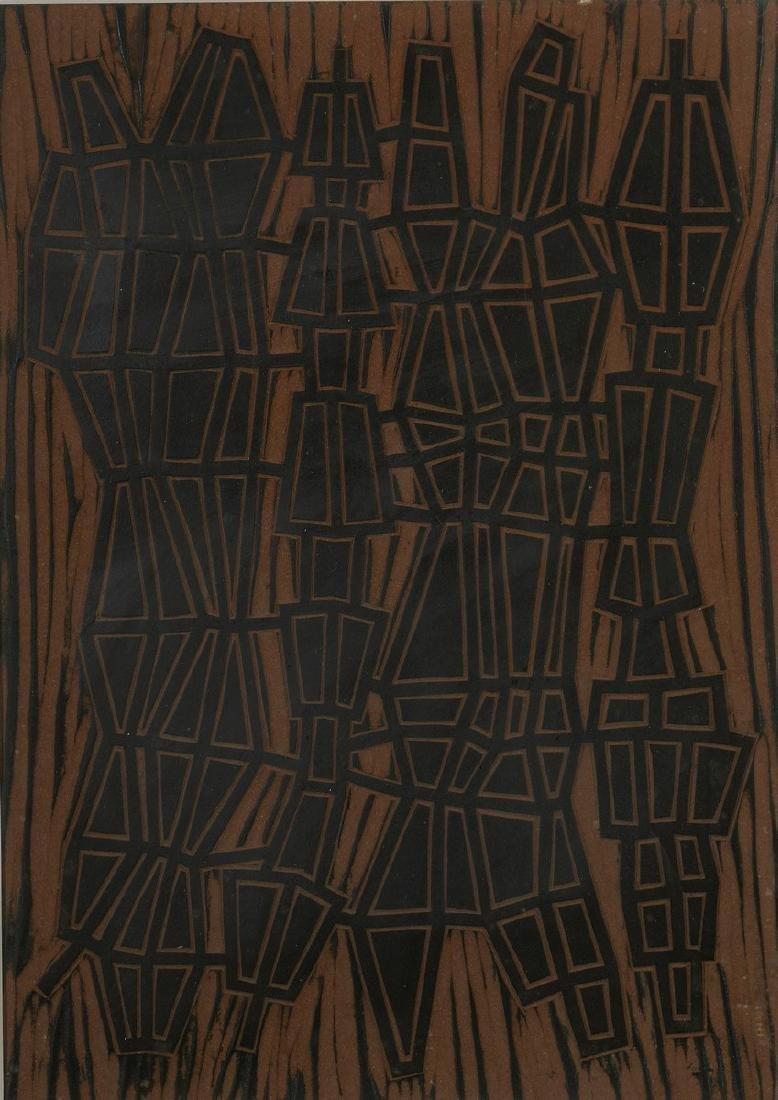 Jean LEPPIEN (1910-1991)  Sans titre, circa 1960