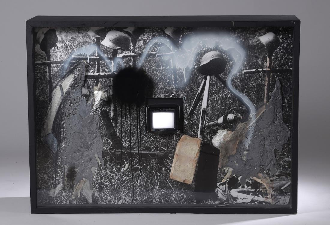Wolf VOSTELL (1932-1998)  Requiem  Acrylique,