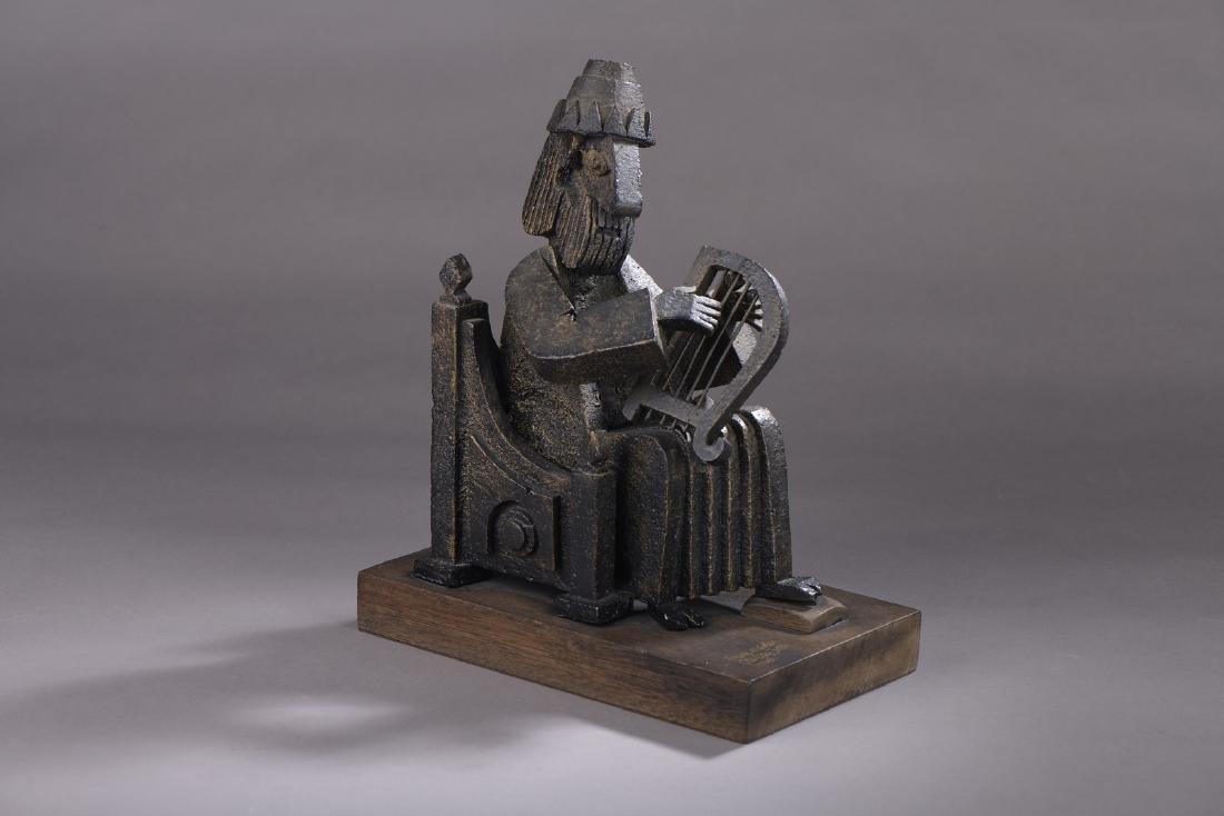 Frank MEISLER (Né en 1929)  Le Roi David à la Harpe