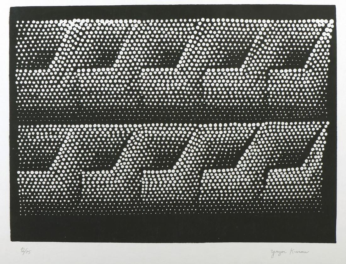 Yayoi KUSAMA (Née en 1929)  Sans titre  Sérigraphie,