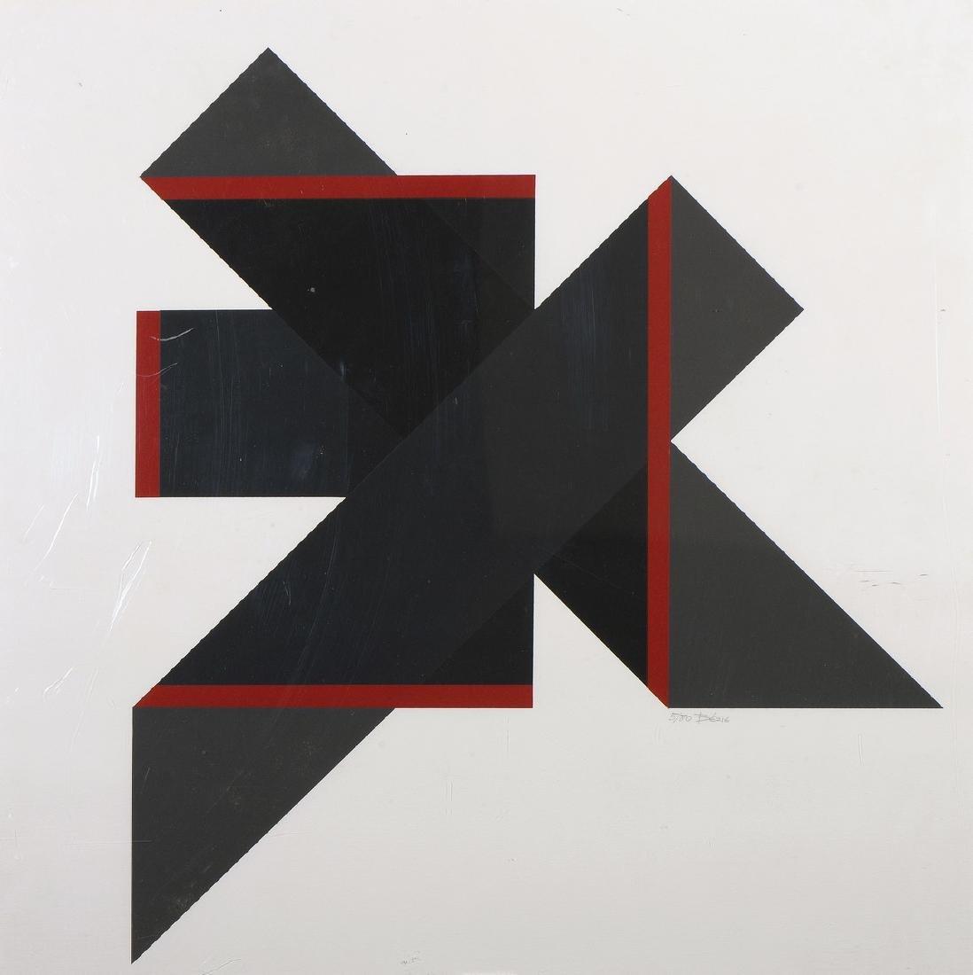 Charles BÉZIE (Né en 1934)  Abstraction  Lithographie
