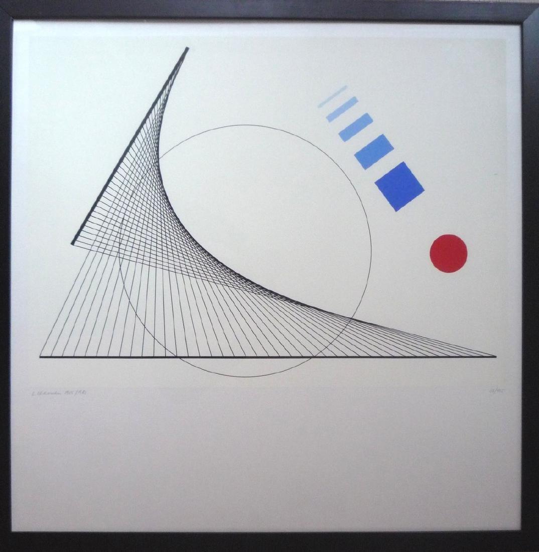 L.LERONESI (XX-XXIème siècle)  Sans titre  Lithographie