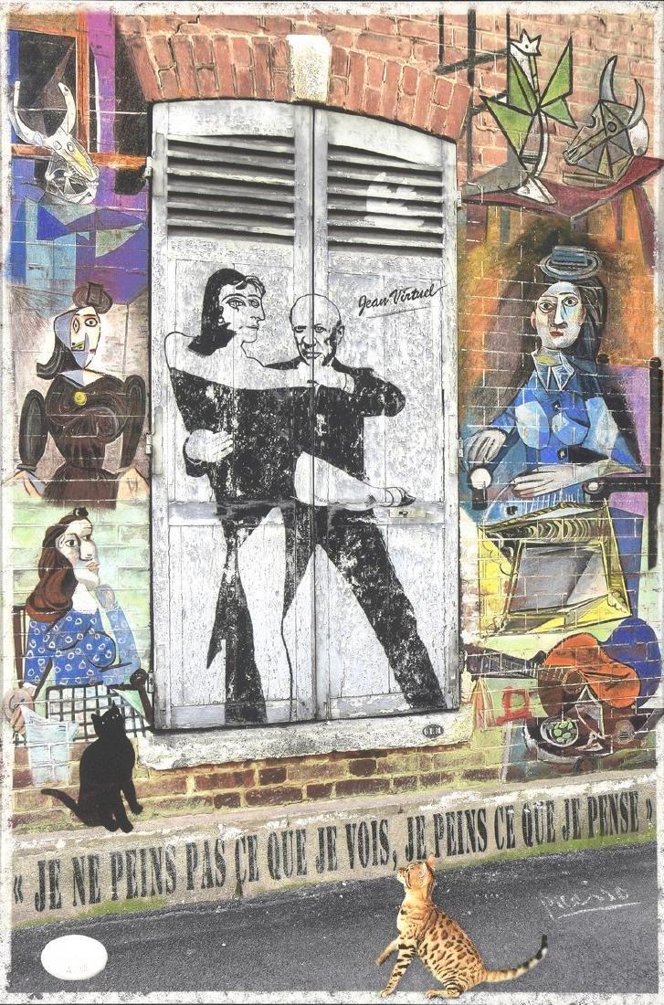 Jean VIRTUEL (XX-XXIème siècle)  Hommage à Picasso