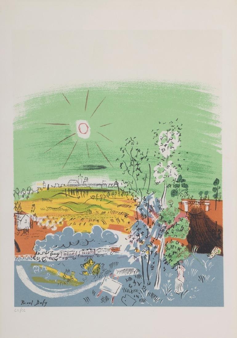 Raoul DUFY, D'APRES  Sérigraphie en couleur , numérotée