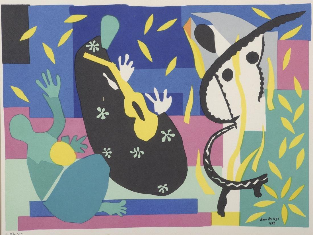 Henri MATISSE, D'APRES  Sérigraphie en couleur «Les