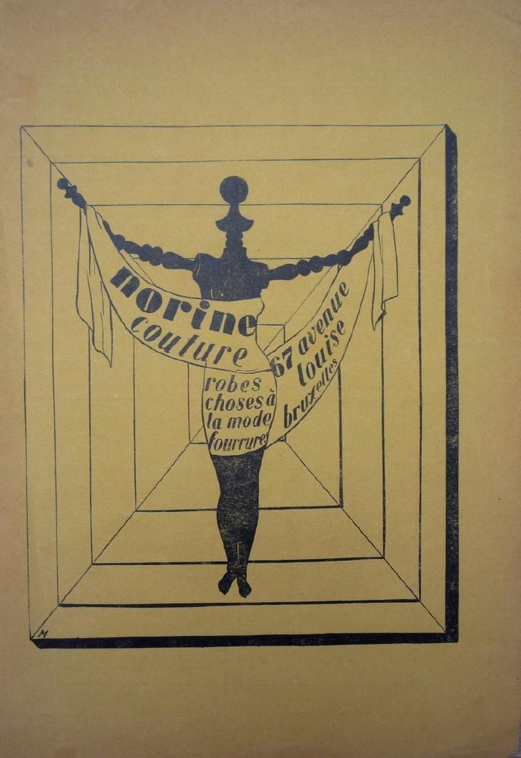 """René MAGRITTE (1898-1967), d'après  """"Norine couture :"""
