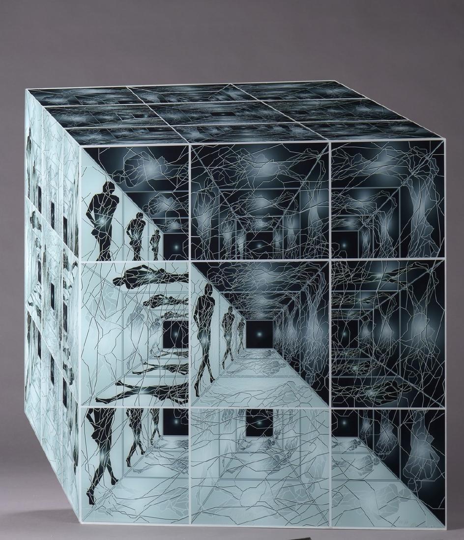 "Jean-Claude MEYNARD (Né en 1951)  ""Le cube"","