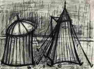 Bernard BUFFET (1928-1999)   Les tentes sur la