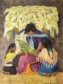 Diego RIVERA (1886-1957)  La récolte des arô