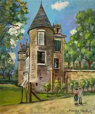 Maurice UTRILLO (Paris 1883 - Dax 1955) Ancien châ