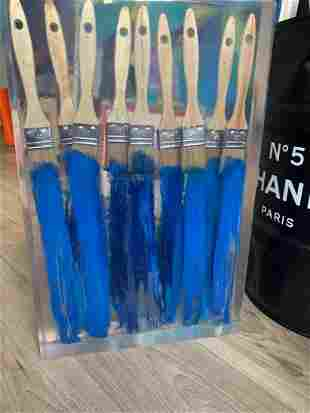 ARMAN (1928-2005) Inclusion de pinceaux Acrylique et