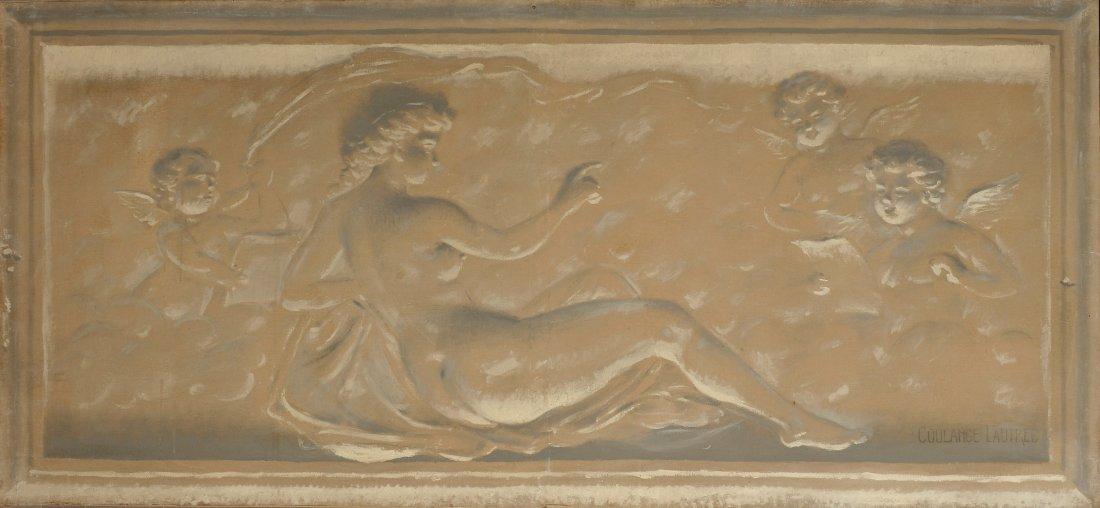 Emmanuel de COULANGE-LAUTREC (1824-1898) Nymphes et put