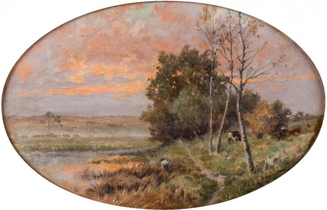Edouard Michel F. HAMMAN (1850-?) Marécages au soleil c