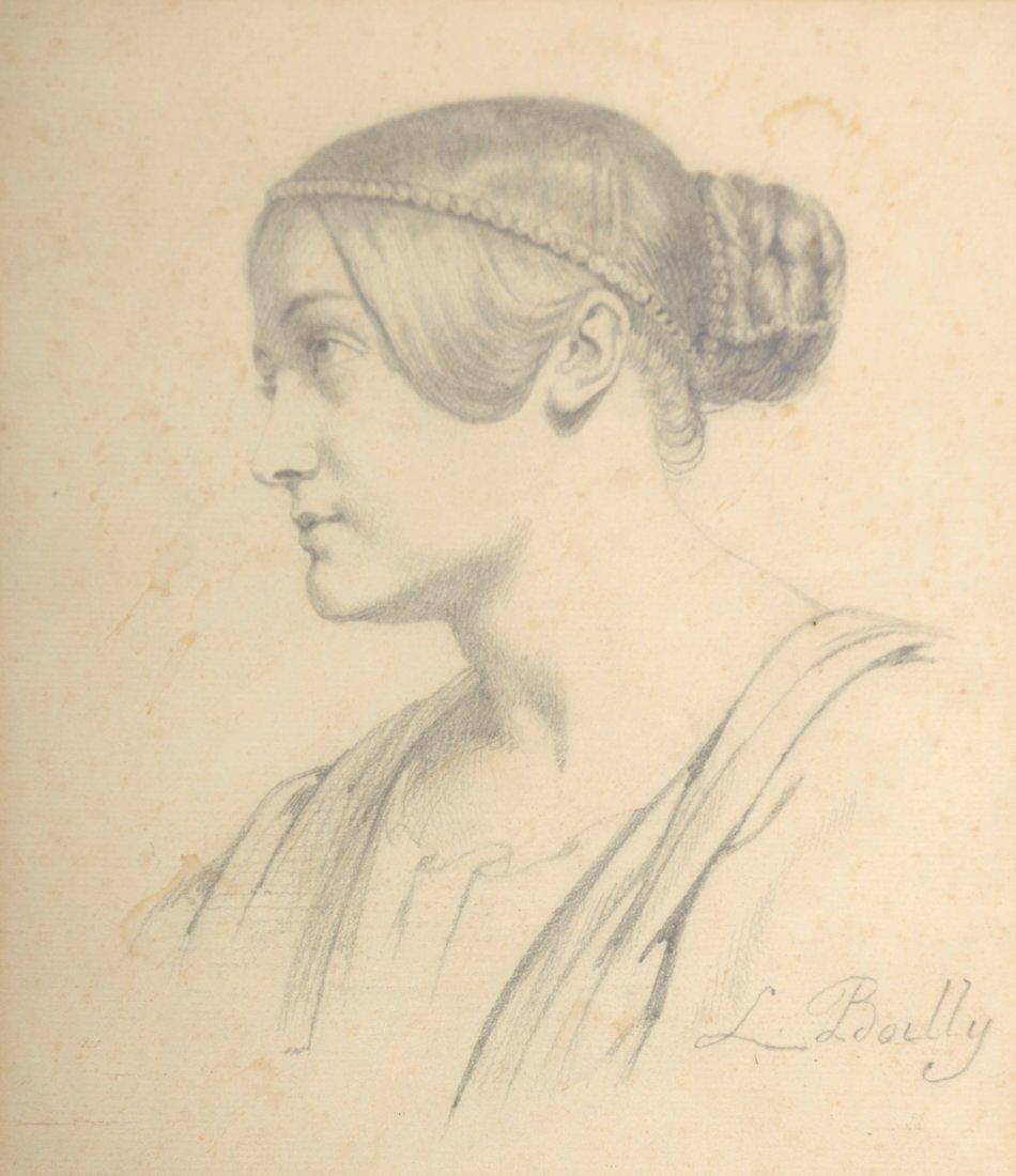 Julien Léopold BOILLY (1796-1874) Portrait de femme Des