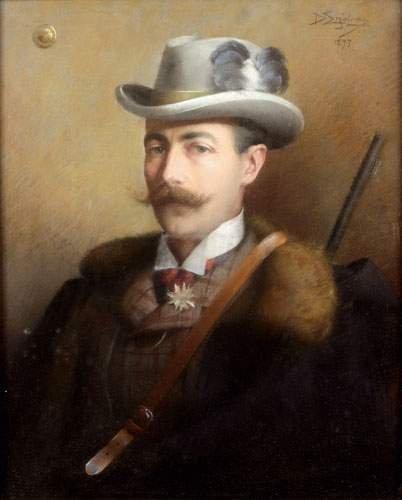 Delphin ENJOLRAS (1857-1945) Portrait du Comte de Bonni