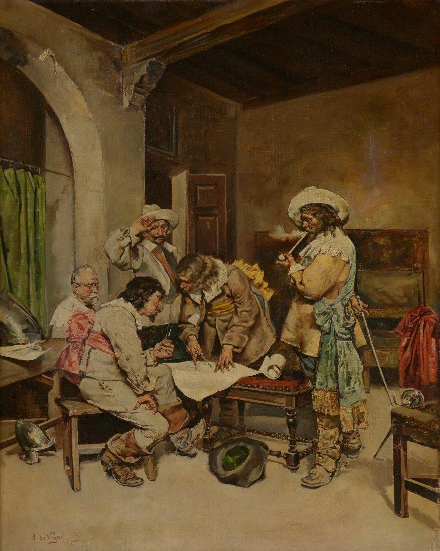 Julian DE VEGA (XIXème siècle)  Le plan de bataille Hui